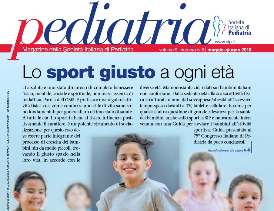 Pediatria, numero 5-6 (2019): Lo sport giusto a ogni età